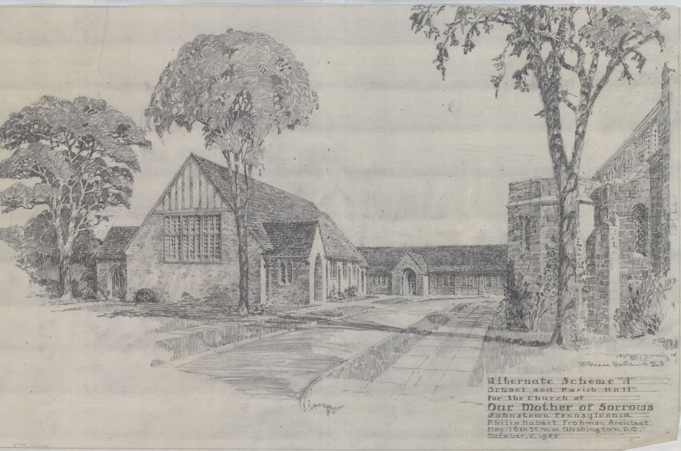 Philip Hubert Frohman Architectural Drawings At The