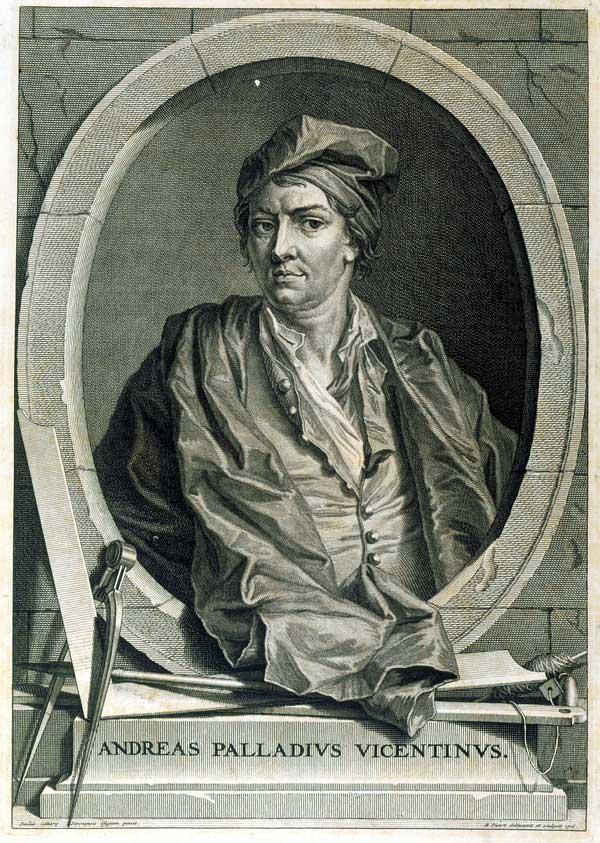 Conjectural portrait of Andrea Palladio, c.1715. Engraved after Sebastiano Ricci (1659-1734). Courtesy RIBA British Architectural Library.