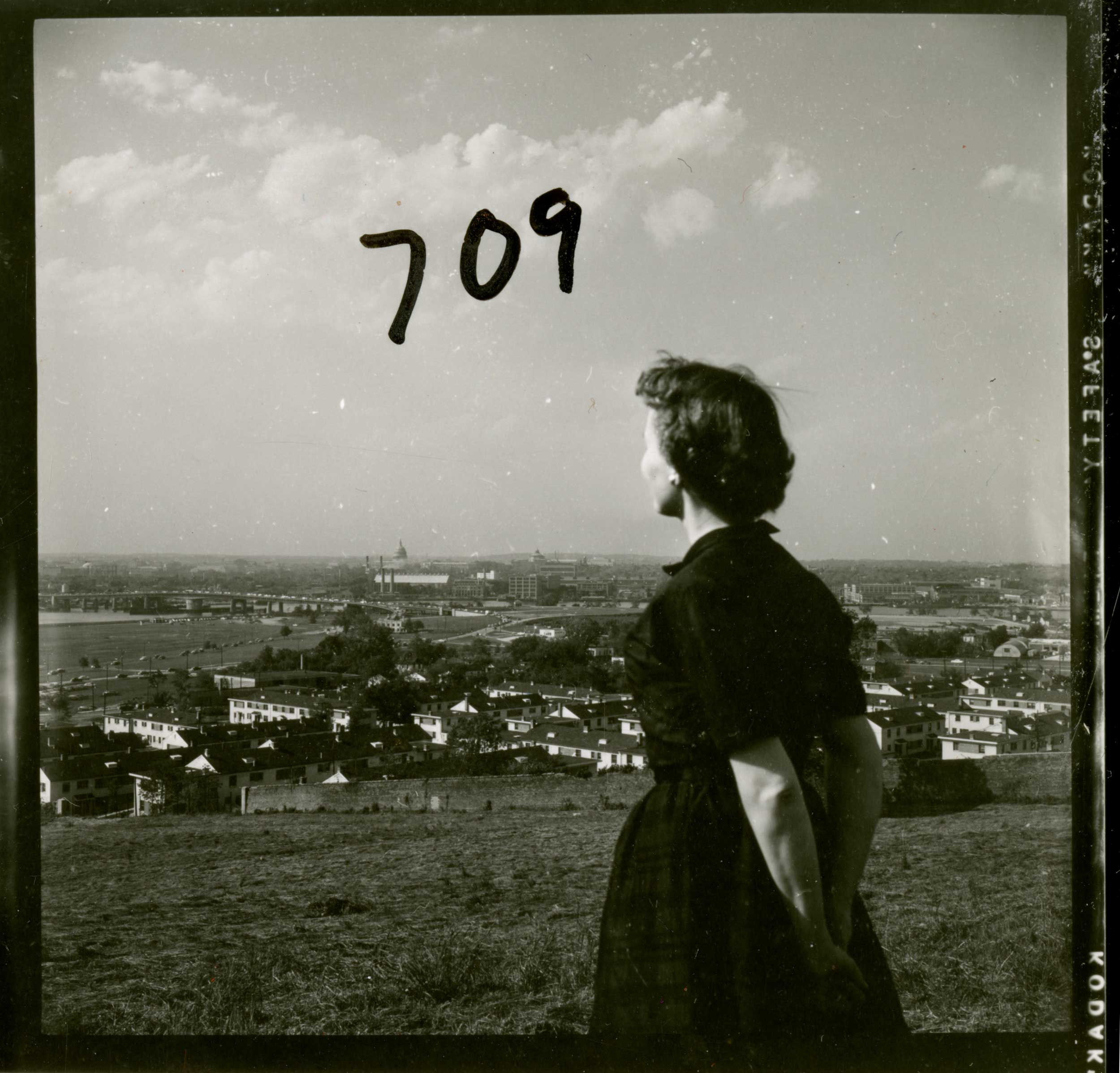 View of Washington, D.C. from St. Elizabeths. Photograph, 1955. A distant view of the urban landscape maintained separation between the hospital and the bustle and stress of the city. Courtesy U.S. National Library of Medicine.