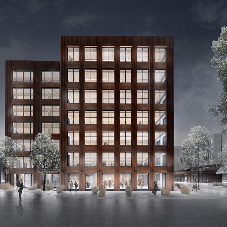 T3, Minneapolis, MN, 2016. Courtesy Michael Green Architecture.