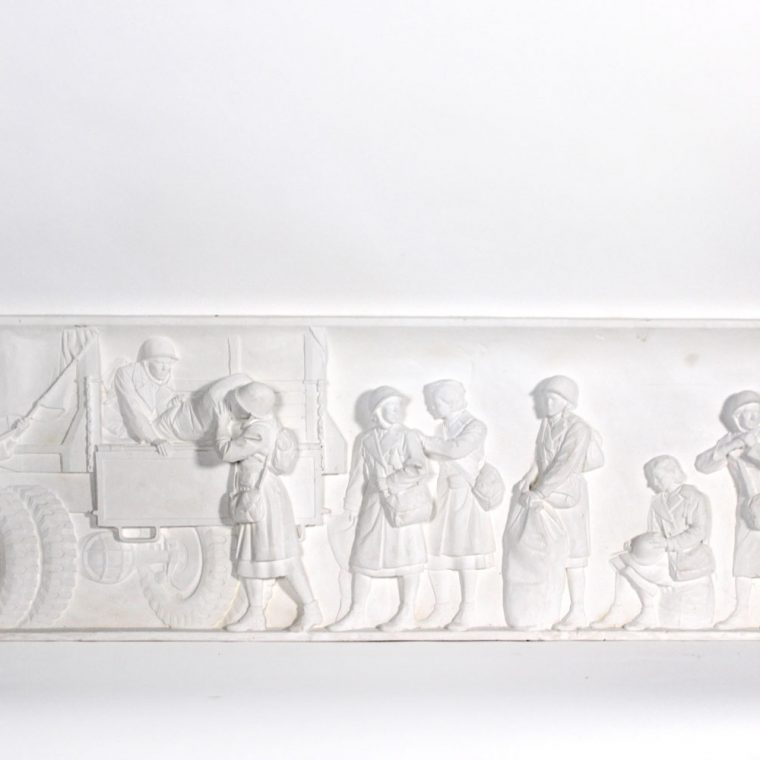 World War II Memorial, Atlantic Panel 3, Women and the Military. Kaskey Studio. Photo by Museum staff.