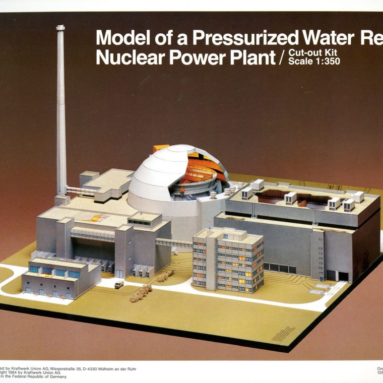 Nuclear Power Plant model. National Building Museum collection.