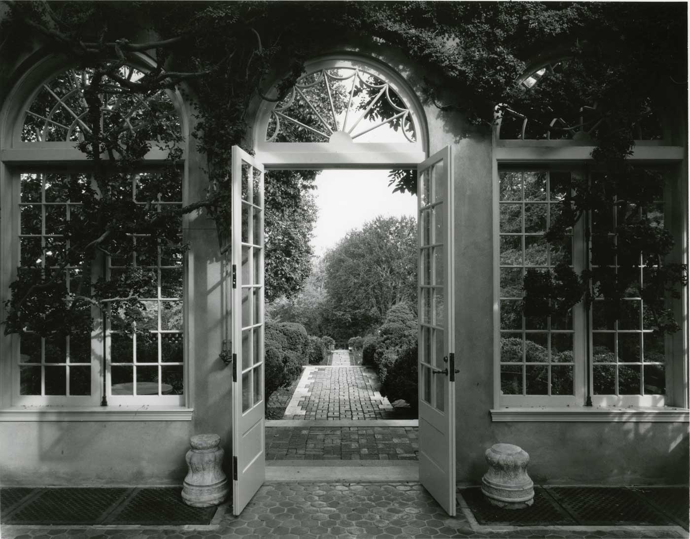 View from Orangery, Dumbarton Oaks. Washington, DC. Landscape by Beatrix Jones Farrand, photo by Alan Ward.