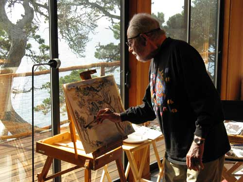 Lawrence Halprin at Sea Ranch. Photo by Charles Birnbaum. Courtesy of The Cultural Landscape Foundation.
