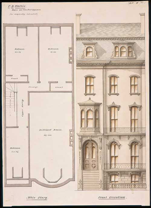 P.D. Wallis House, Boston, Massachusetts, 1858. Luther Briggs, Jr., architect. Courtesy Historic New England.