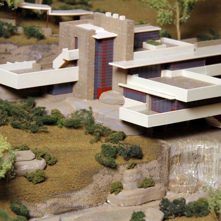 Fallingwater, Mill Run, Pennsylvania. Architect: Frank Lloyd Wright. Built: 1935. Model by Studios Eichbaum + Arnold, 2010. Photo by Museum staff.