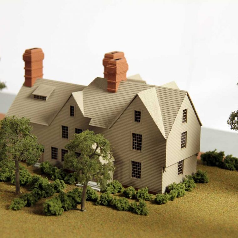 House of Seven Gables, Salem, Massachusetts. Built by Captain John Turner, 1668. Model by Studios Eichbaum + Arnold, 2008. Photo by Museum staff.