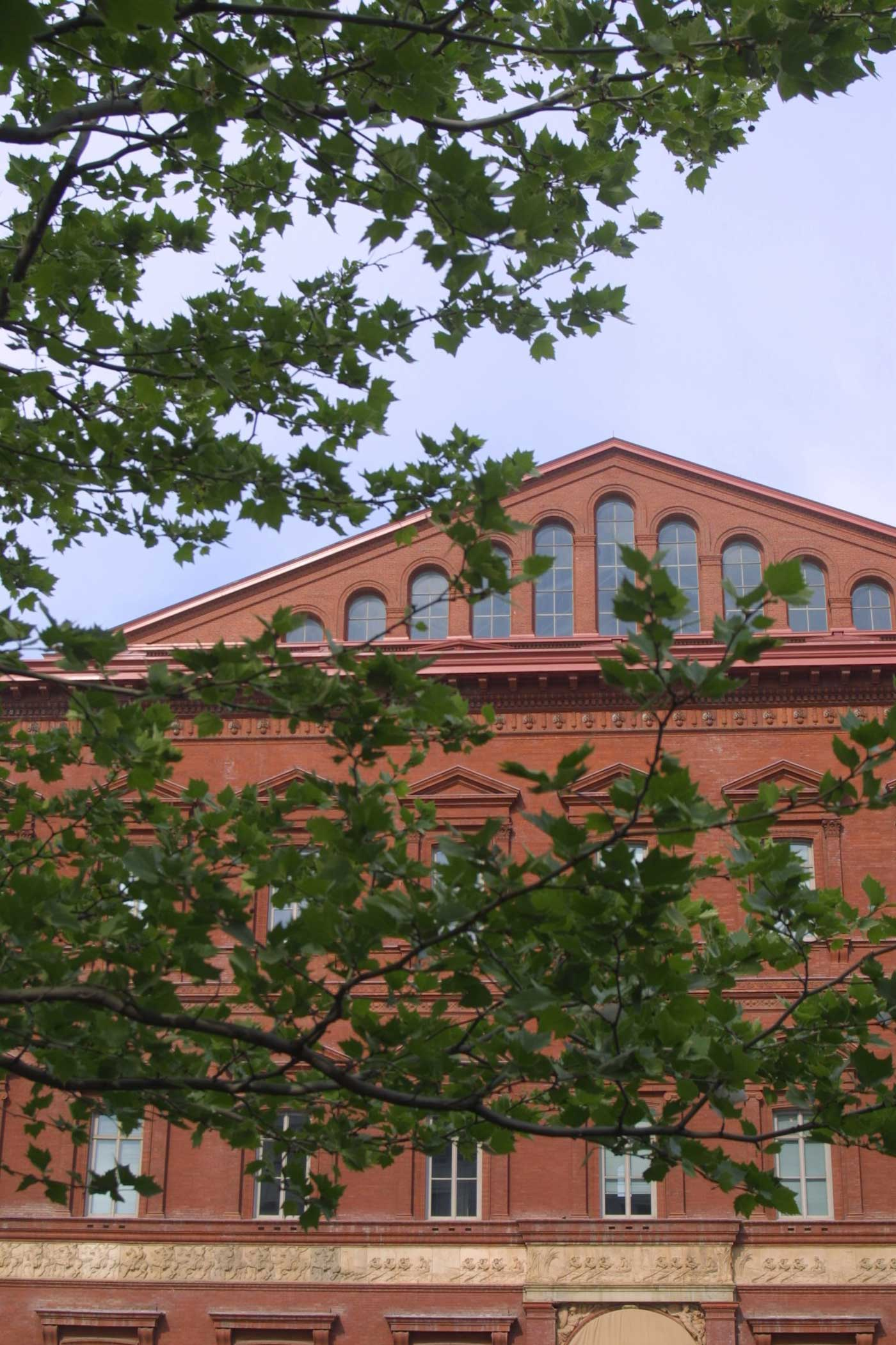 Exterior Of The National Building Museum, View From Judiciary Square. Photo  By F. T. Eyre.