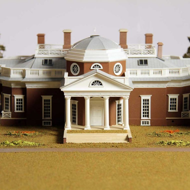 Monticello, Charlottesville, Virginia. Built by Thomas Jefferson, 1769-1826. Model by Studios Eichbaum + Arnold, 2008. Photo by Museum staff.