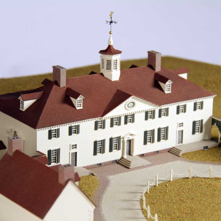 Mount Vernon, Alexandria, Virginia. Built by George Washington, mid-1700s. Model by Studios Eichbaum + Arnold, 2011. Photo by Museum staff.