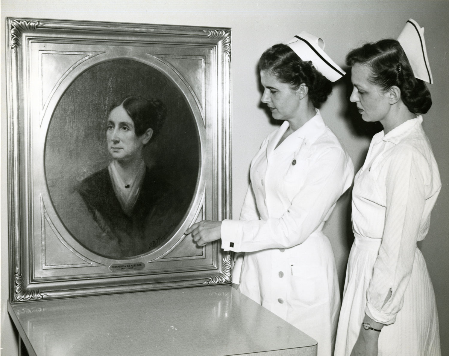 Dorothea Lynde Dix was an educator and activist who spoke out against the problems in the mental health care system. Her legacy as a founder of St. Elizabeths endured into the second century of the hospital. Courtesy National Library of Medicine, c. 1950s.