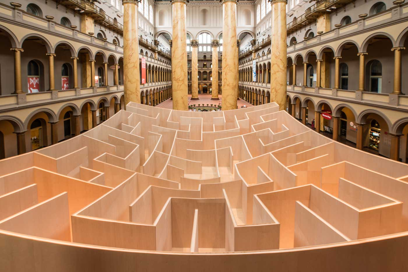 The Big Maze At The National Building Museum Summer 2014