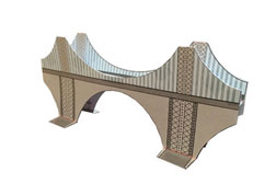 Suspension Bridge paper model