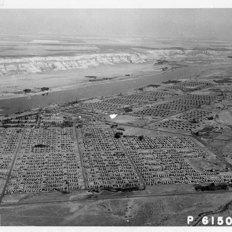 Aerial View Of Hanford Construction Camp