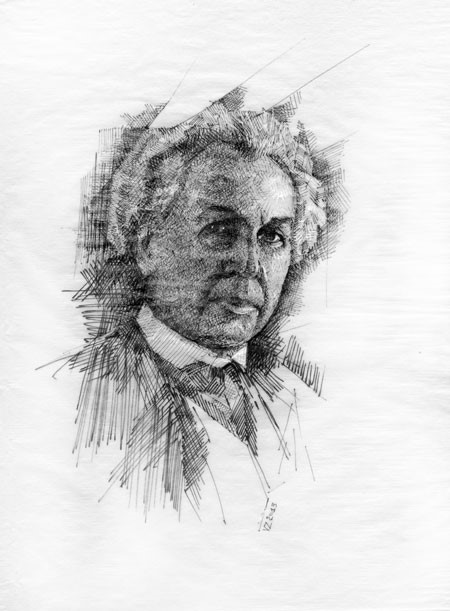 Portrait of Frank Lloyd Wright, by Vladimir Zabavskiy.
