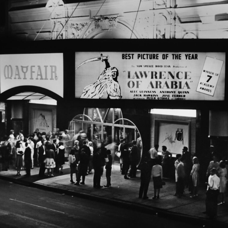 Lawrence of Arabia premiere, Mayfair, 1963. Courtesy of the Don Gunther Collection.