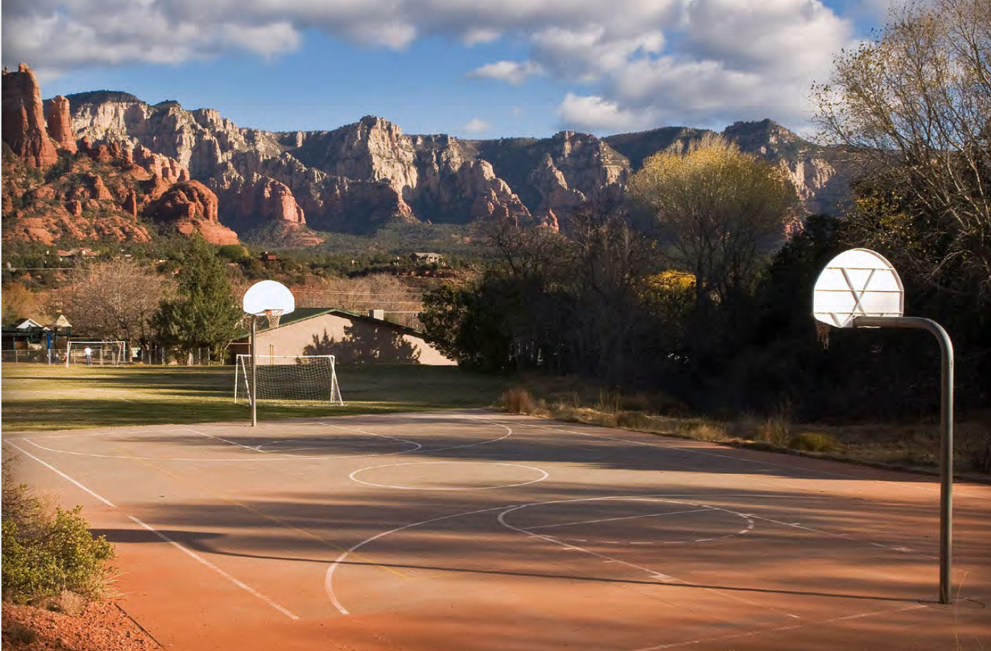 Public school playground, Sedona, Arizona; 2009. All images © Bill Bamberger.