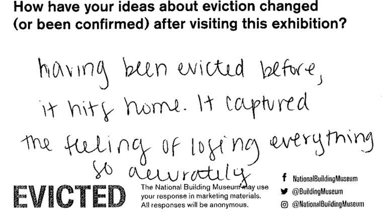 Having been evicted before, it hits home. It captured the feeling of losing everything so accurately.
