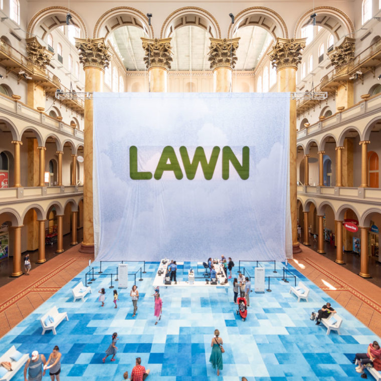 Lawn At The National Building Museum. Photos by Timothy Schenck.