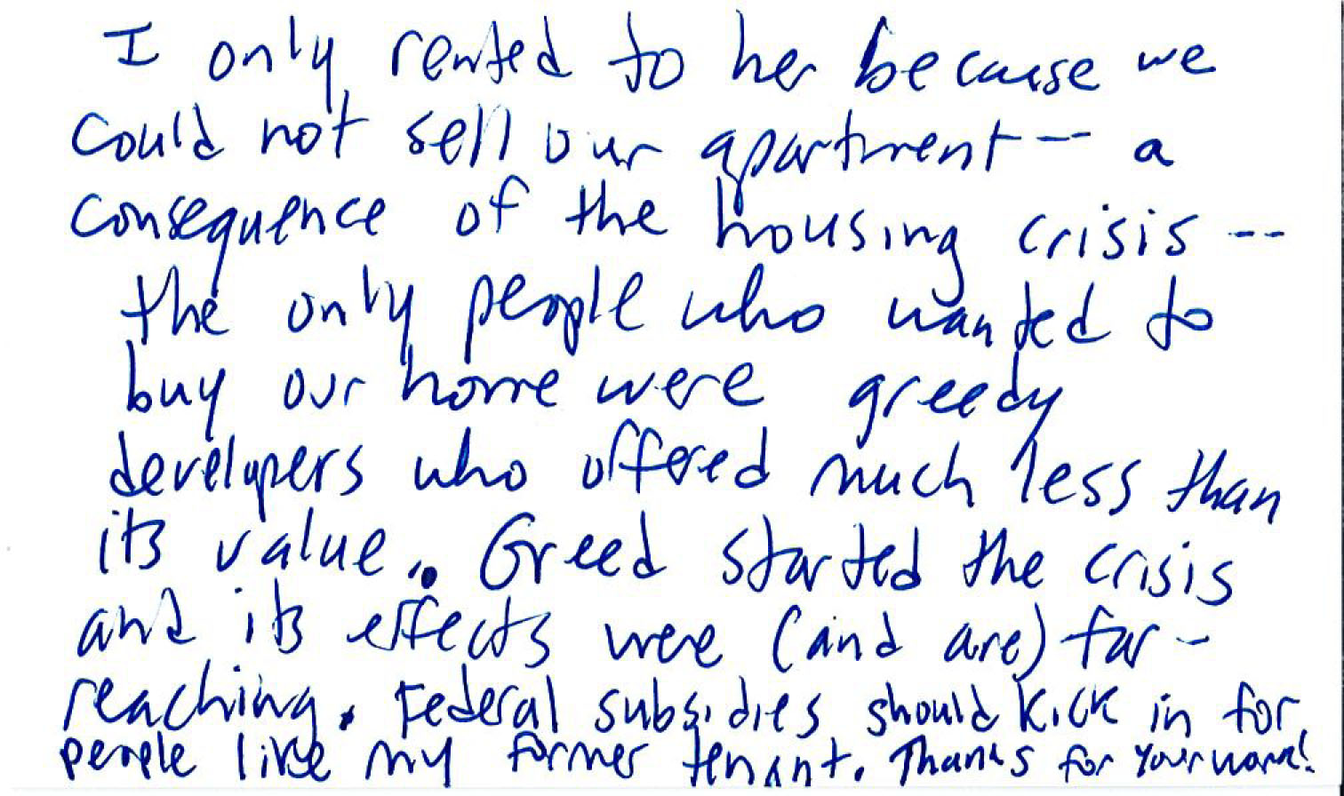 Explore the Evicted Notecards, Written By Visitors – Part 2