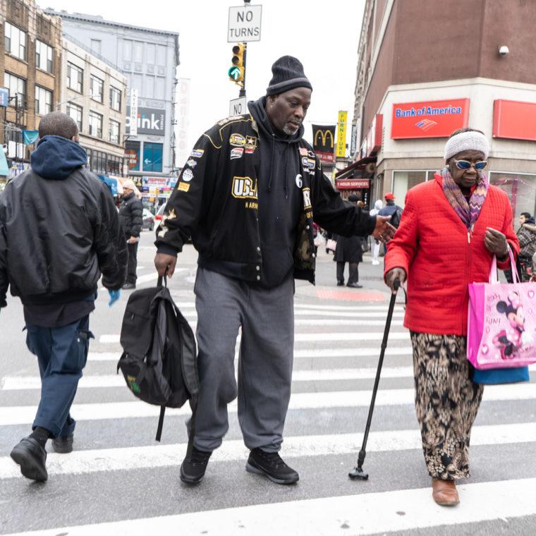 March 19, 2020: Crossing East 149th Street at Third Avenue, Bronx, New York. © Camilo José Vergara