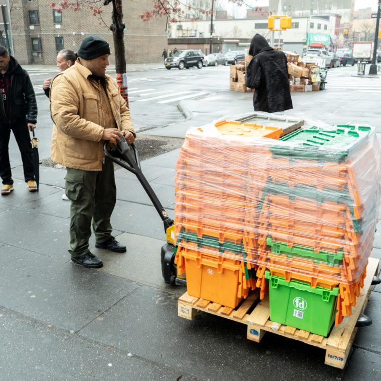 March 29, 2020: Delivery run to Community Services Food Program, East 147th Street at Willis Avenue, Bronx, New York. © Camilo José Vergara