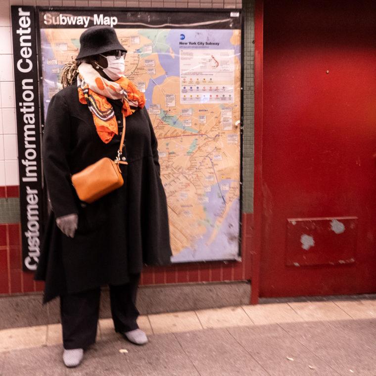 March 18, 2020: Waiting for the train in the Third Avenue subway station, Bronx, New York. © Camilo José Vergara
