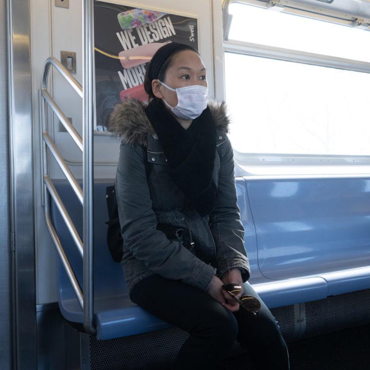 March 22, 2020: Riding the 7 train, Woodside, Queens, New York. © Camilo José Vergara