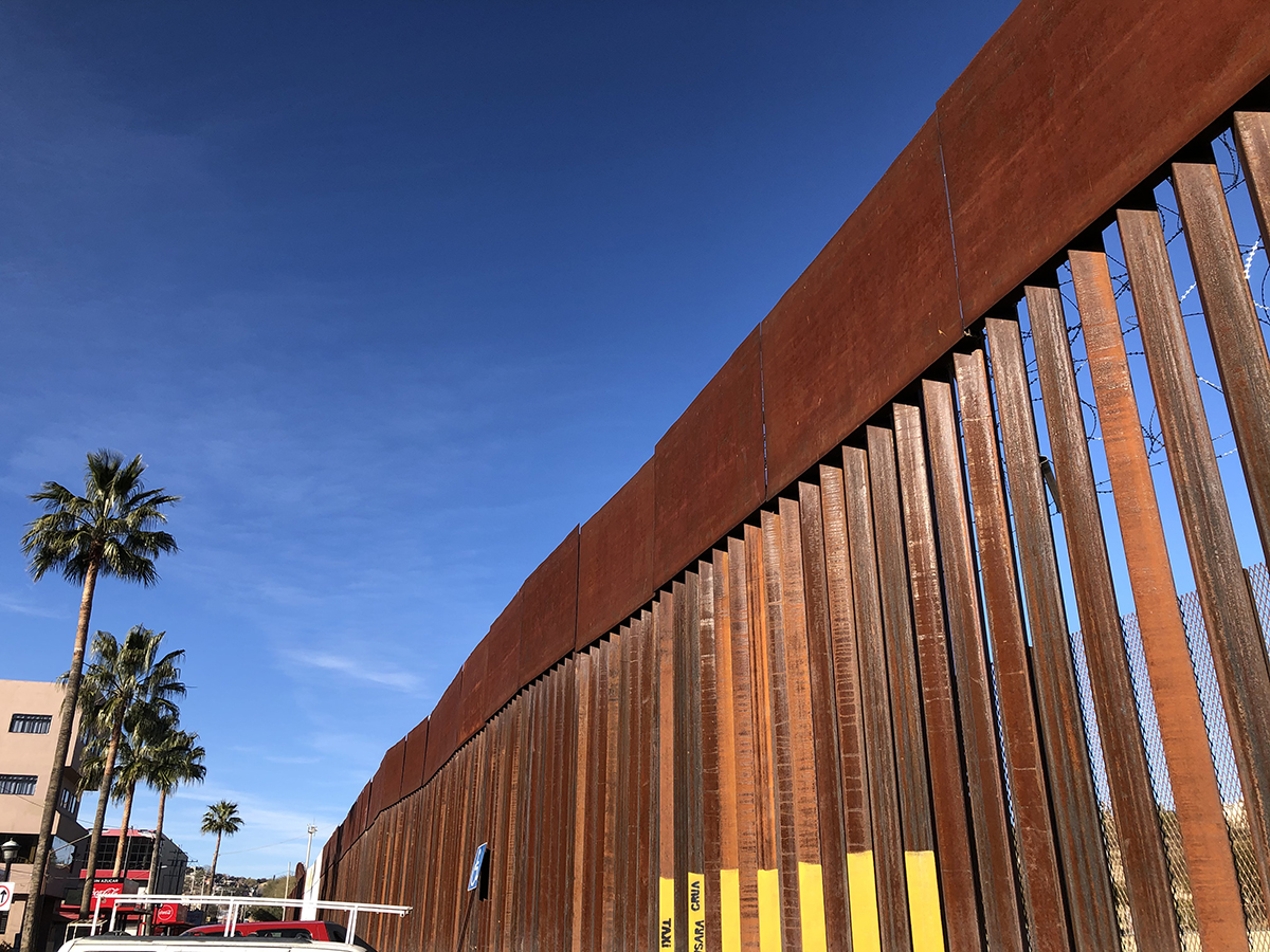 The border wall in Nogales, Sonora, Mexico, January 2020.