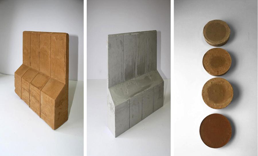 Ane Gonzalez & Lara Meryem Es Saoudi, The Wall/El Muro Exhibition Object Prototypes