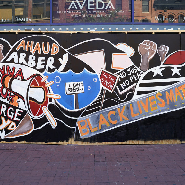 Gallery Place Murals 1: Black Lives Matter (In Name and Word), by Shawn Perkins