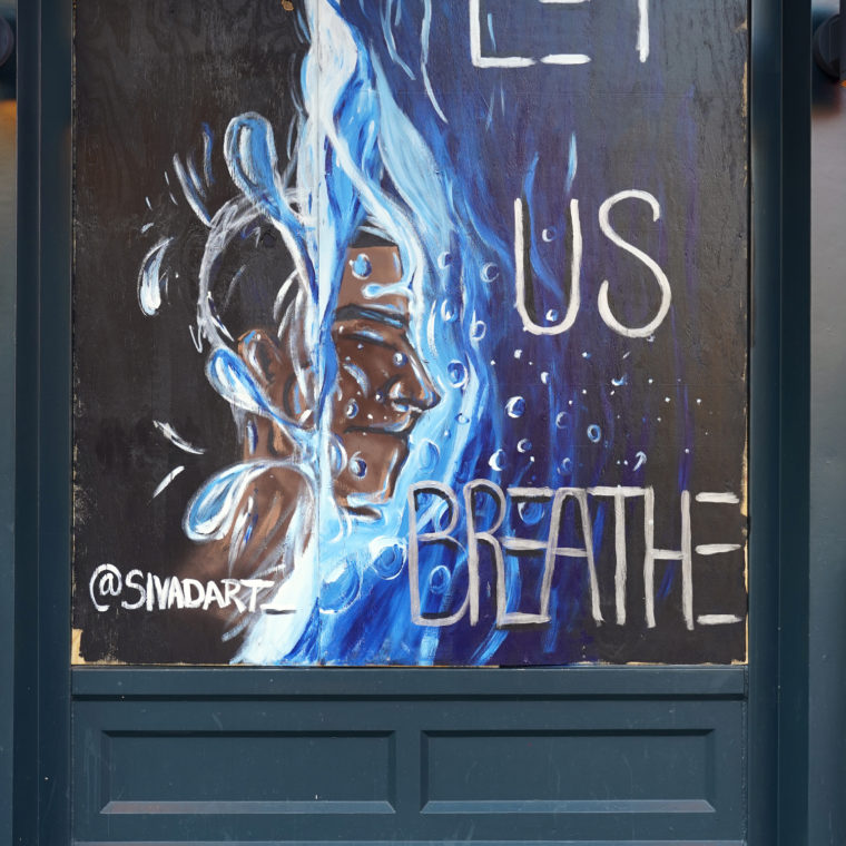 Gallery Place Murals 14: Let Us Breathe, by Miguel Davis Jr.