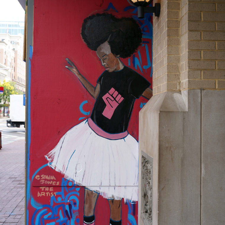 Gallery Place Murals 16: Little Black Girl, by Sonia Jones