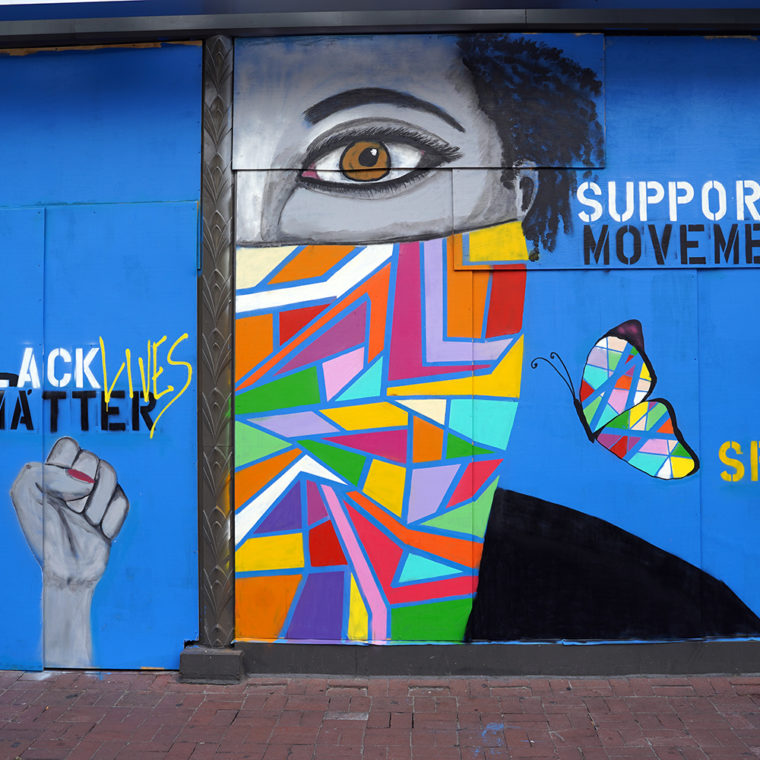 Gallery Place Murals 3: Support the Movement, by Keiona Clark