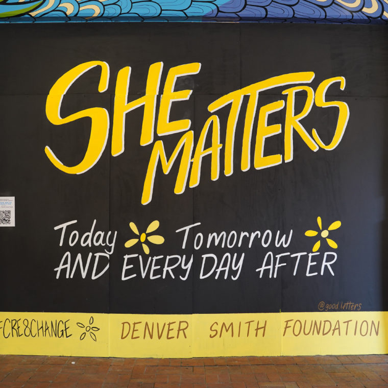 Gallery Place Murals 4.2: She Matters, by Good Letters Design
