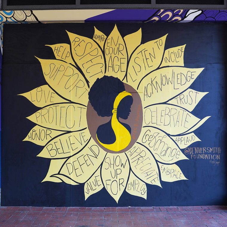 Gallery Place Murals 4.1: Sunflower, by Denver Smith Foundation & Nicole Joseph
