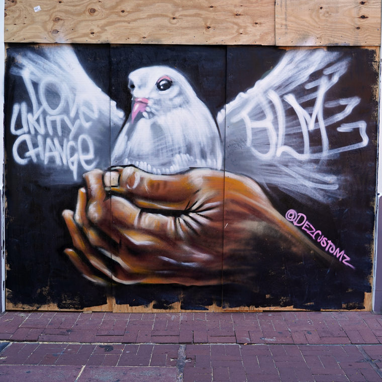 Gallery Place Murals 5: Peace Dove, by Dez Zambrano