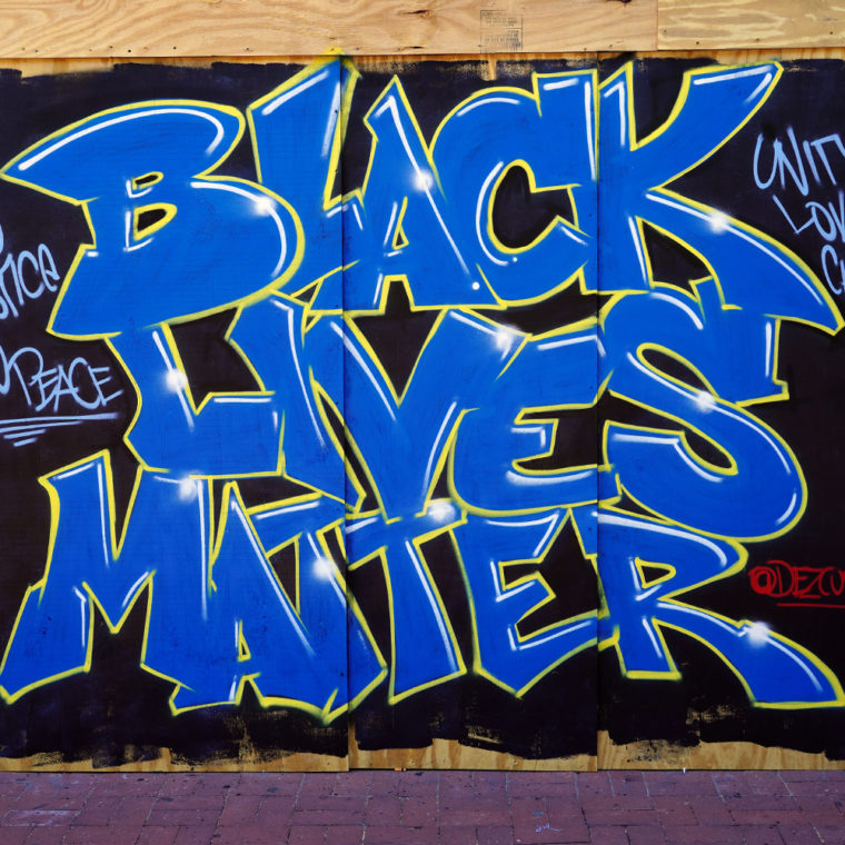 Gallery Place Murals 6: Black Lives Matter, by Dez Zambrano