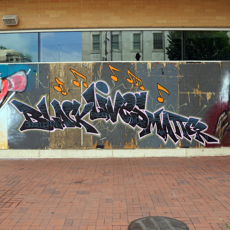 Gallery Place Murals 7: Black Lives Matter, by Dez Zambrano + Levi Robinson