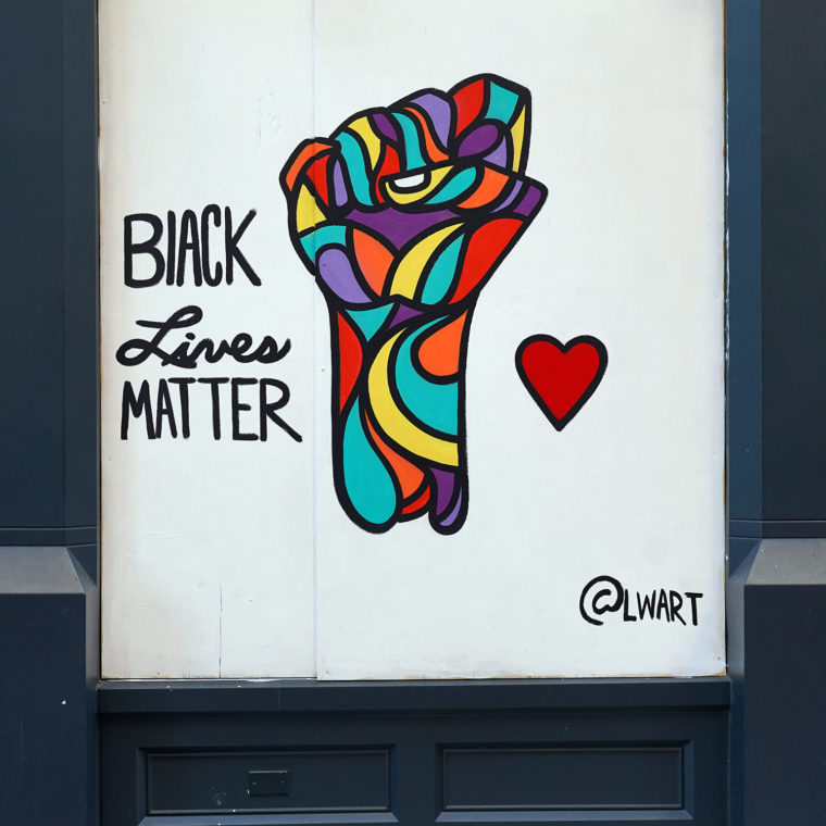 Gallery Place Murals 8: Black Lives Matter, by Luther Wright