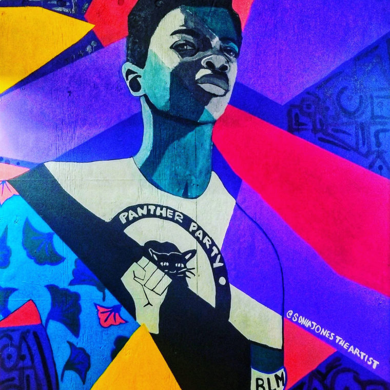 Gallery Place Murals 9: Panther Party, by Sonia Jones