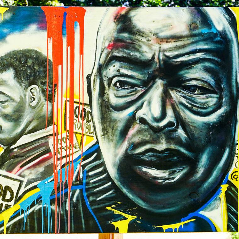 Big Six Murals 1: John Lewis, by Shawn Perkins