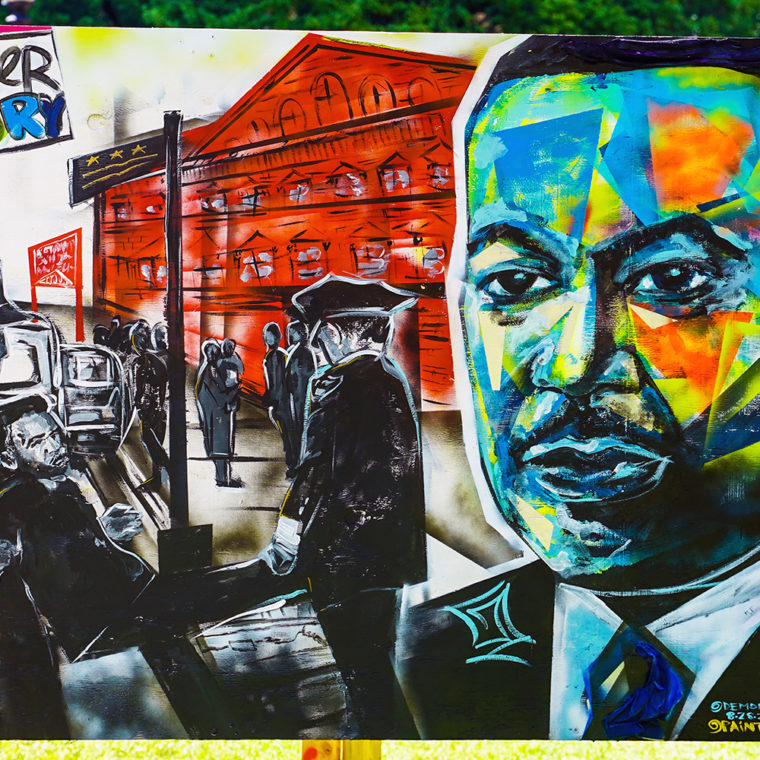 Big Six Murals 2: Dr. Martin Luther King Jr., by Demont Pinder