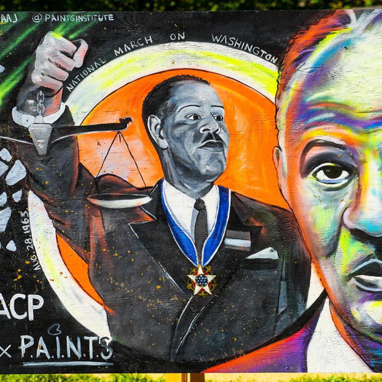 Big Six Murals 6: Roy Wilkins, by Jamaal Lamaaj