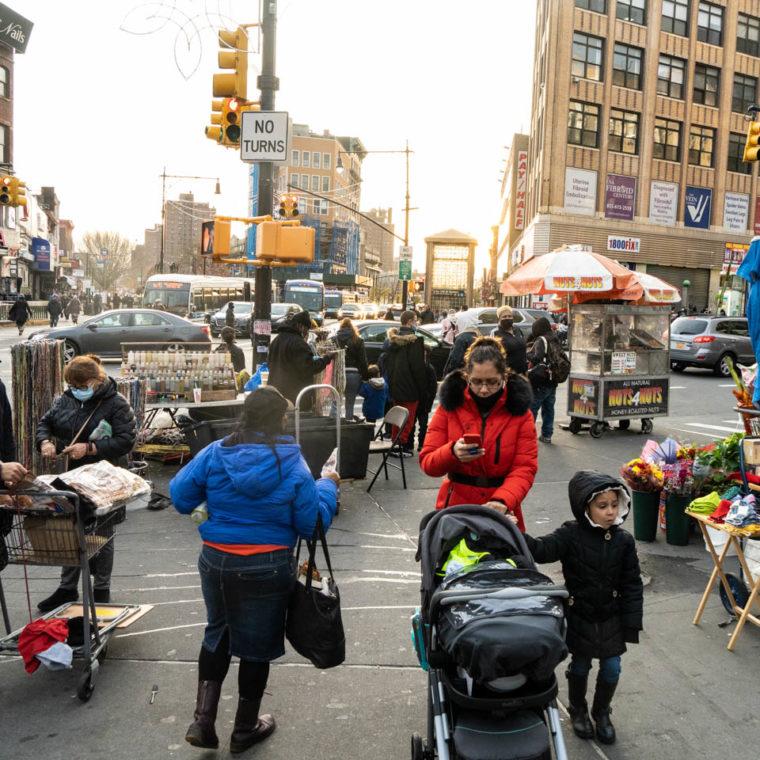 November 25, 2020: View south along Third Avenue from East 149th Street, Bronx, New York. © Camilo José Vergara