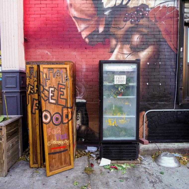 November 4, 2020: The Bushwick Fridge, Little Skips East, 1638 Broadway, Brooklyn, New York. © Camilo José Vergara