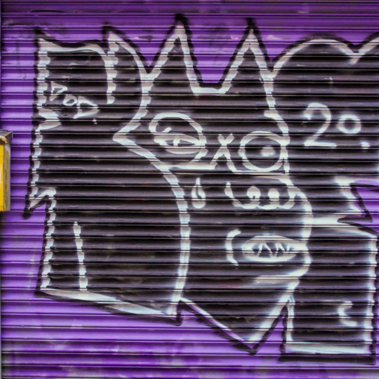 November 4, 2020: Monster. 1203 Broadway, Brooklyn, New York. © Camilo José Vergara