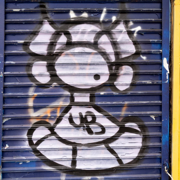 October 5, 2020: Masked figure. Garrison Street at Hunts Point Avenue Bronx, New York. © Camilo José Vergara