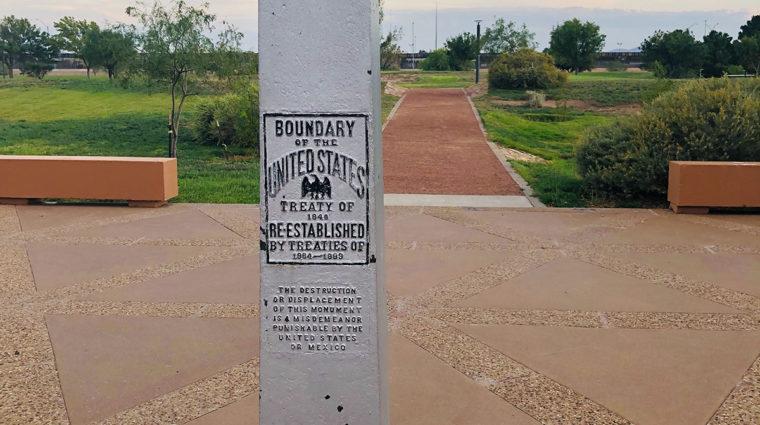 US-Mexico Boundary Marker