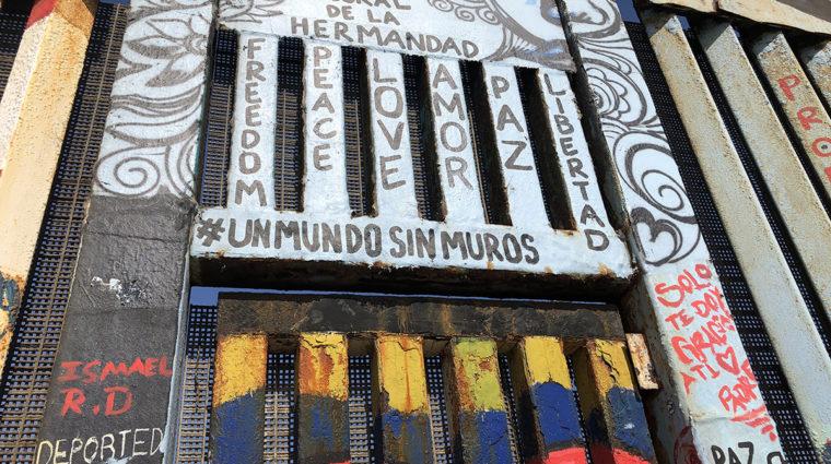 Close Up Of Deported Veterans Mural, Tijuana, Baja California